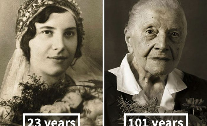 Stunning Photos Show The Same People Portraits as Young Adults and 100-Year-Olds