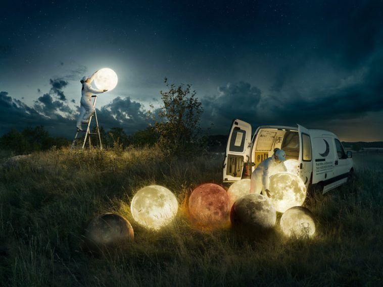 Conceptual Photo of the Full Moon Service photography by Erik Johansson 1