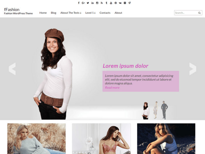 Fashion Free Blog WordPress Theme