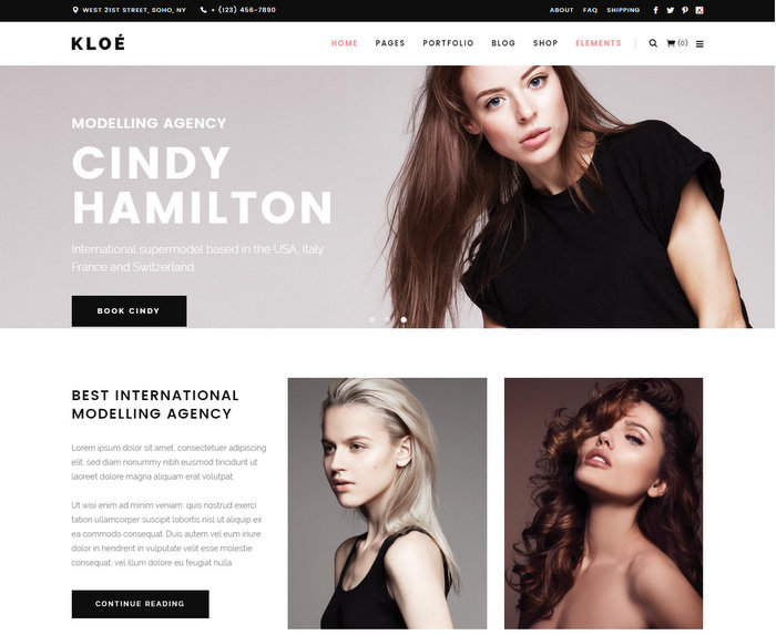 Kloe Fashion WordPress Theme