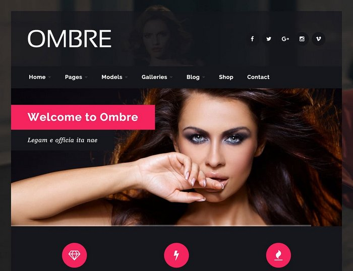 OMBRE Fashion WordPress Theme