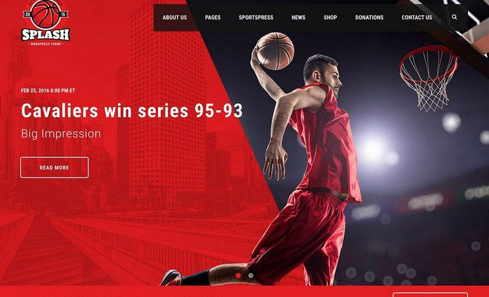 Splash Sports WordPress Theme