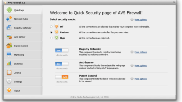 AVS Free Firewall Software for Windows