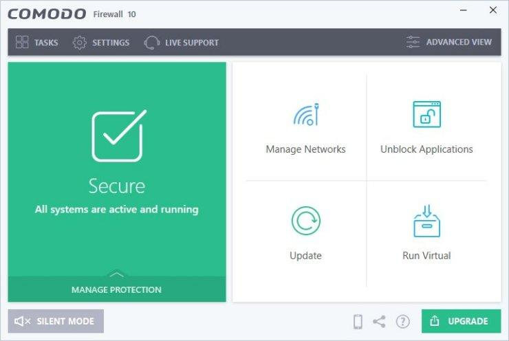 Comodo Free Firewall Software for Windows