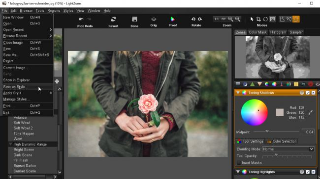 Free Lightroom Alternative LightZone