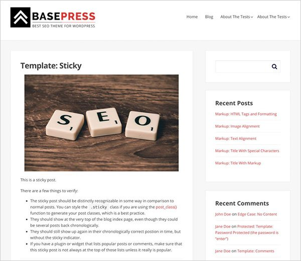 BasePress Magazine Wp Theme 2017