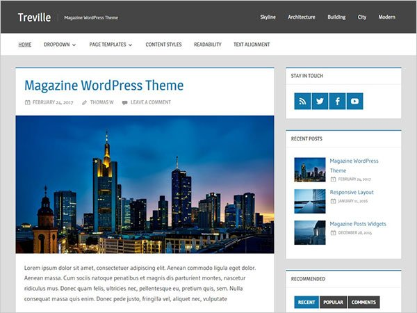 Elegant Blogging WordPress Theme