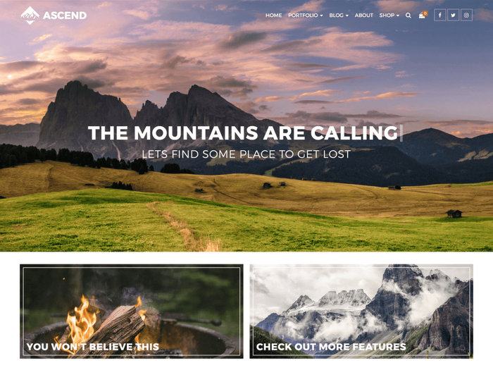Free Portfolio WordPress Themes Ascend