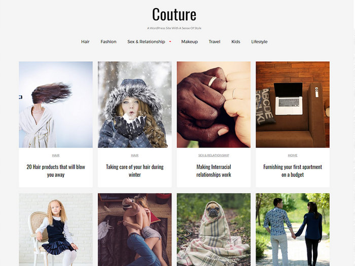 Free Portfolio WordPress Themes Couture