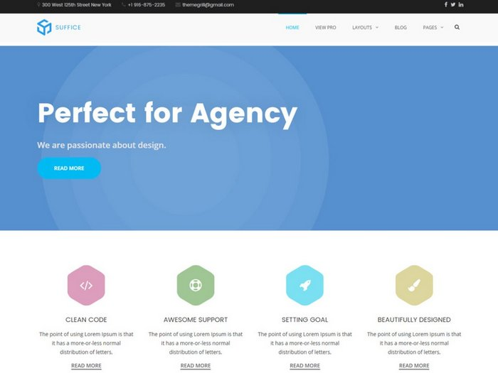 Free Portfolio WordPress Themes Suffice
