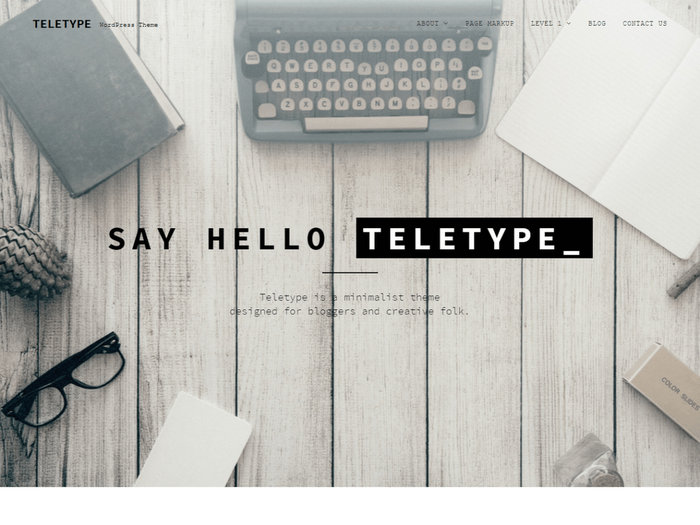 Free Portfolio WordPress Themes Teletype