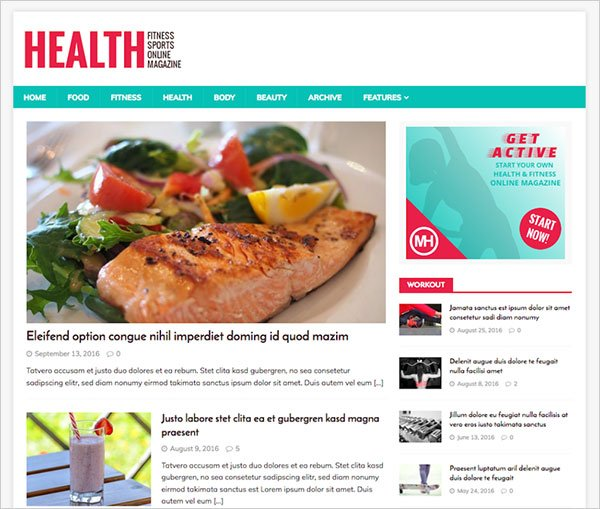 MH HealthMag Magazine WordPress Theme
