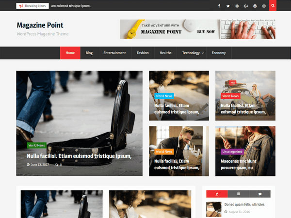 Magazine Point Free WordPress Theme