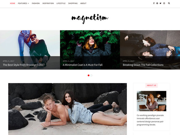 Magnetism Free WordPress Theme