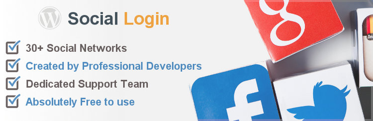 Social Login free WordPress plugin