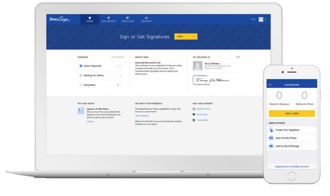 Electronic Signature Software DocuSign