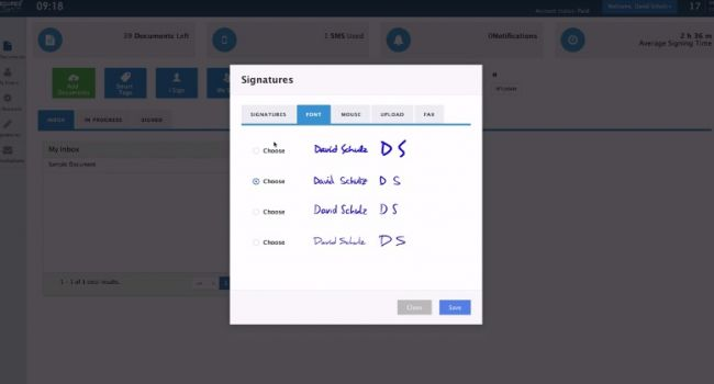 Examples of E-Signatures Secured Signing