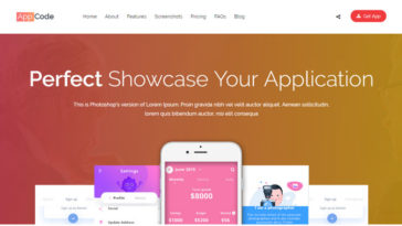 Mobile App Showcase WordPress Themes AppCode