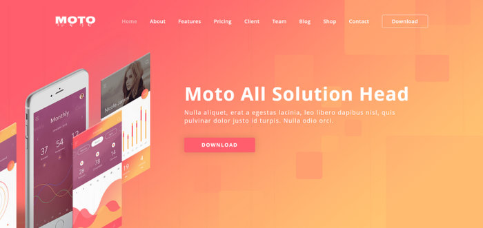 Moto WordPress Landing Page Theme