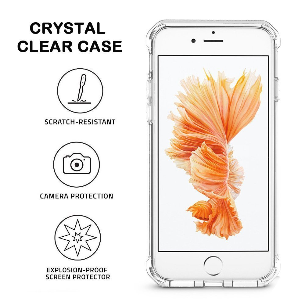Matone Crystal Clear iPhone 8 Plus Case iPhone 7 Plus Case