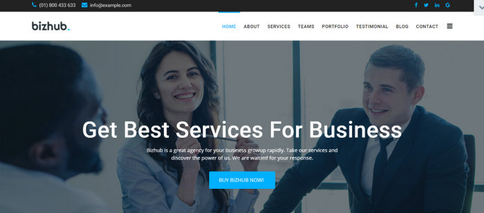 Bizhub Business One Page Joomla Template
