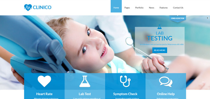 Clinico Medical and Health Joomla Template