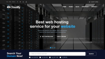 Cloudify Web Hosting WordPress Theme start a hosting company