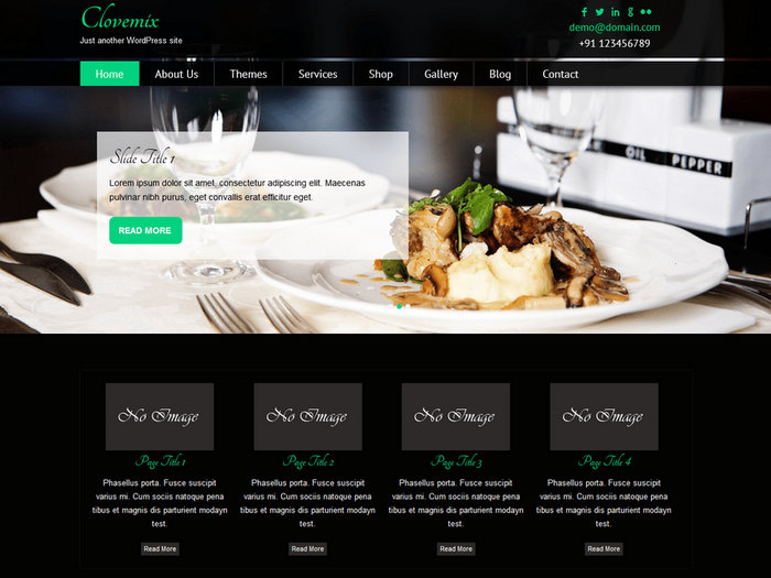 Clovemix free restaurant WordPress themes