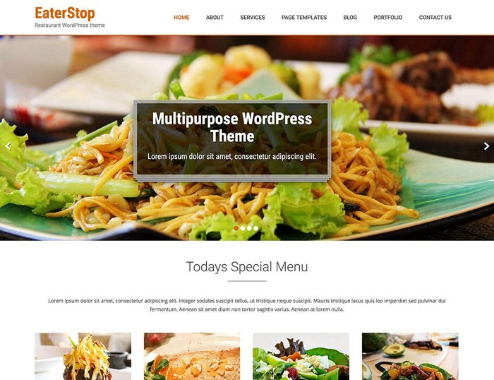 Eaterstop Lite Free Restaurant WordPress Themes