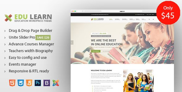 Education School Courses Joomla Template