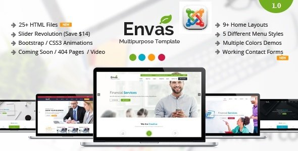 Envas Multipurpose Business Joomla Template