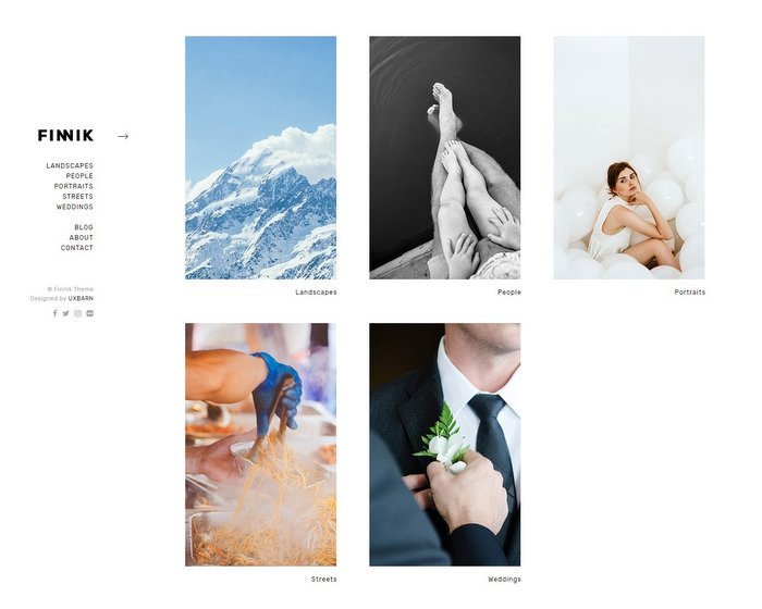 Finnik Minimal WordPress Theme for Photographers