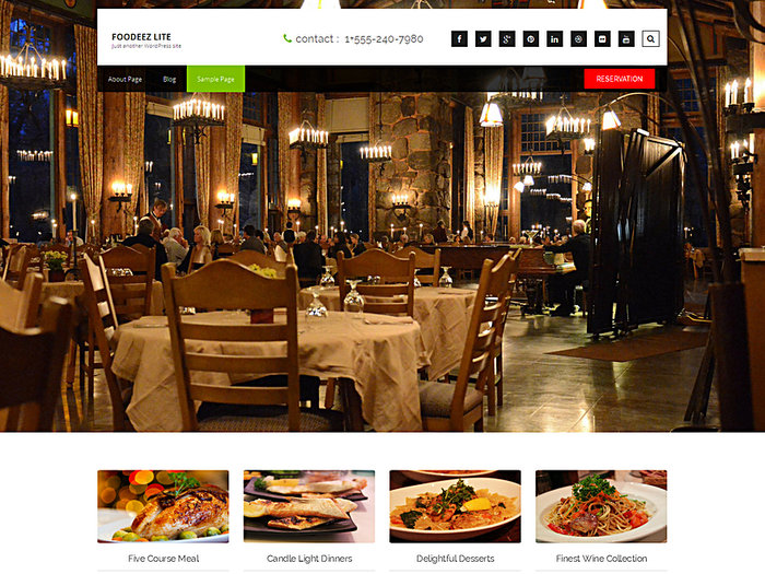 Foodeez LiteFree Restaurant WordPress Themes
