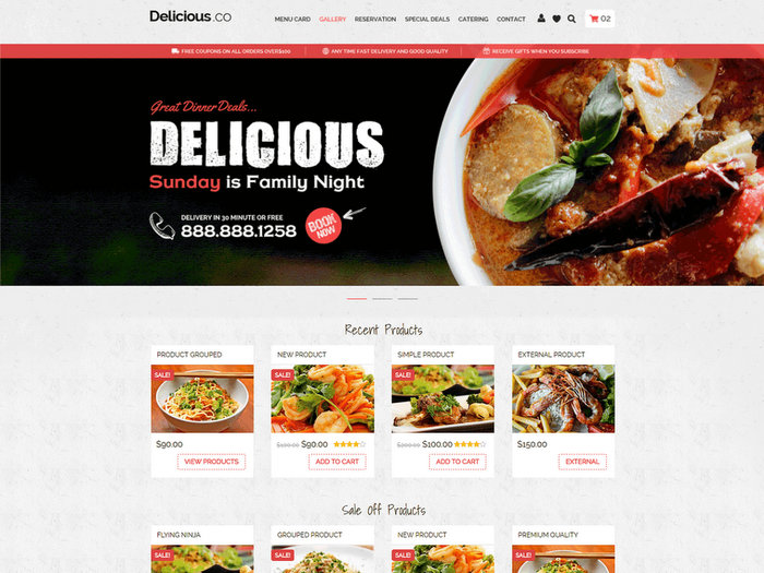 FoodyFree Restaurant WordPress Theme