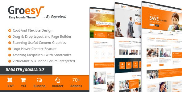 Groesy Responsive Business Joomla Templates