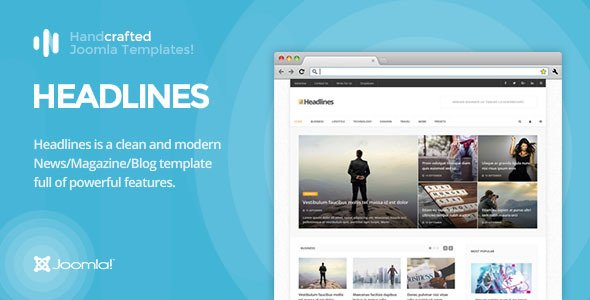Headlines Joomla Template