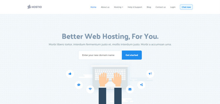 Hostio Web Hosting WHMCS WordPress Theme