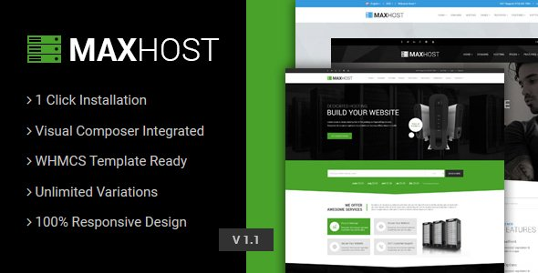 MaxHost Web WHMCS Hosting WordPress Theme
