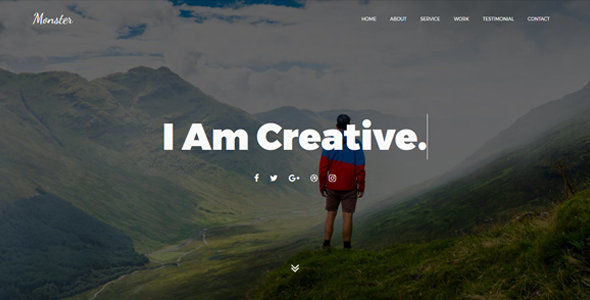 Monster Personal Blog Template