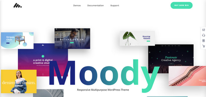 Moody Modern Flexible WordPress theme