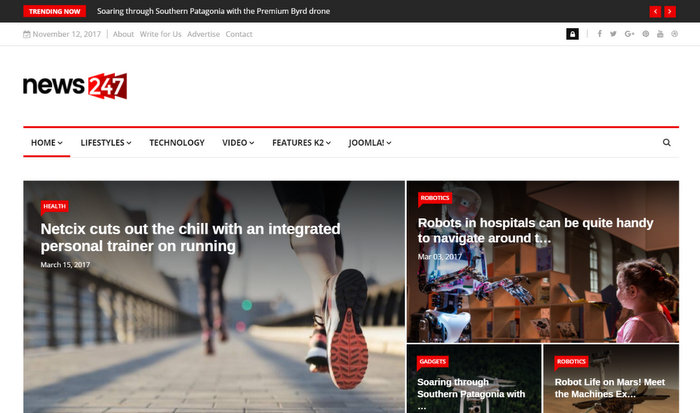 News247 Joomla Responsive News Magazine Newspaper