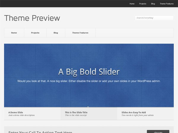 Pitch free minimal wordpress theme