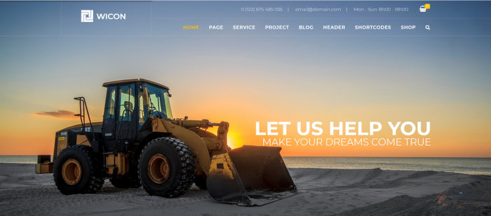 WICON Construction Building Joomla Template