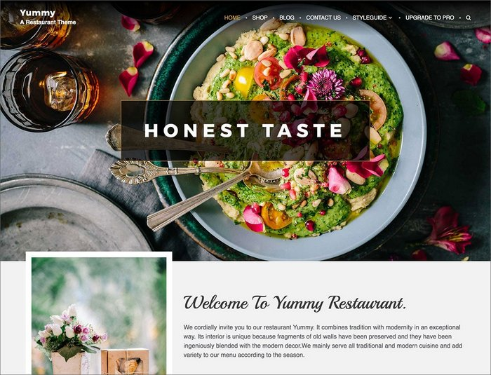 Yummy Restaurant WordPress Theme