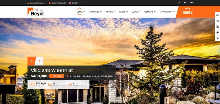 Beyot WordPress Real Estate Theme