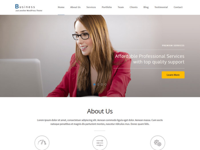 Business One Page Free WordPress Theme