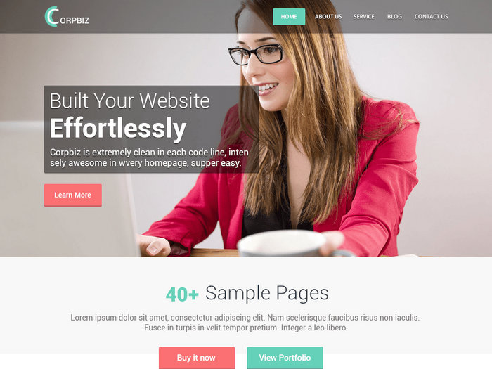 Corpbiz Free WordPress Theme