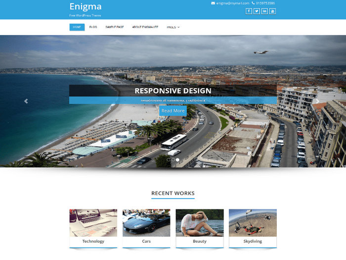 Enigma Free WordPress Business Theme