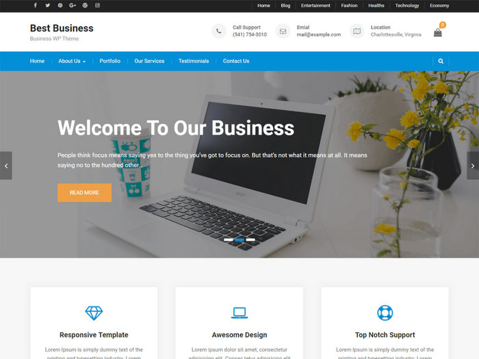 Best Free Business WordPress Themes 2017