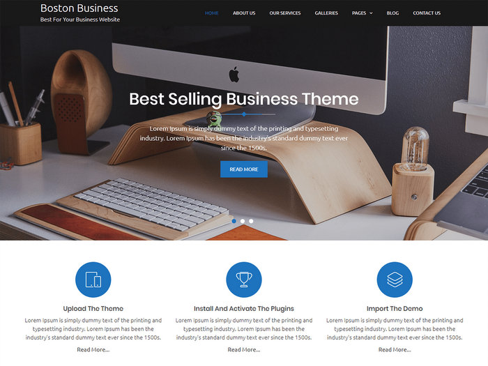 Free WordPress Business Themes Boston